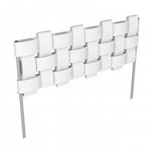 Комплект «Декоративный заборчик «Плетенка» Белый