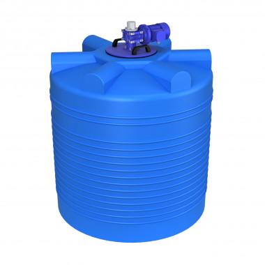 Емкость ЭВЛ 1000 л. с лопастной мешалкой